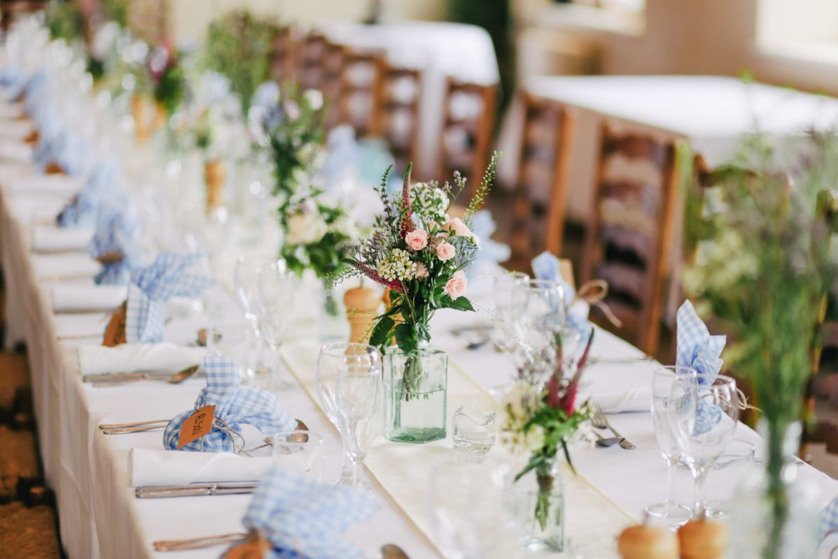 結婚式場のテーブルコーディネート